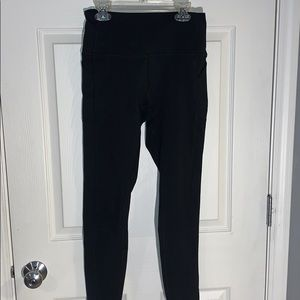 PINK Black Cozy Leggings With Pockets